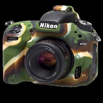 EasyCover Silikonschutzhülle für Nikon D750 - Camouflage