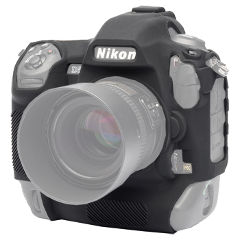 EasyCover Silikonschutzhülle für Nikon D5 - Schwarz