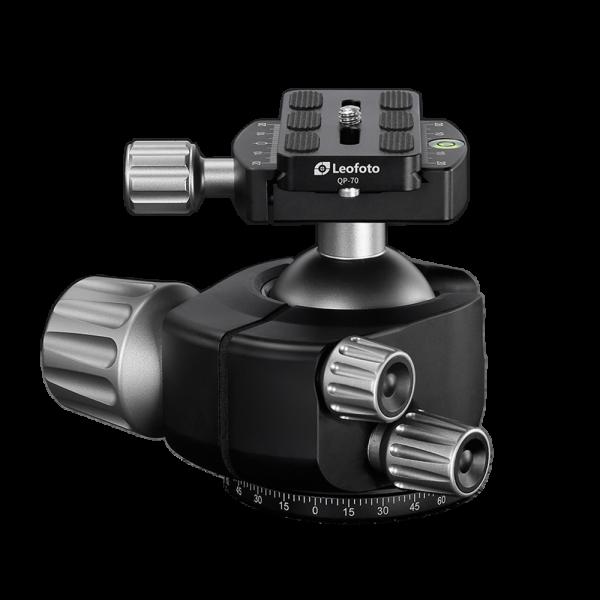 Leofoto LH-55 Kugelkopf mit QP-70 Kameraplatte