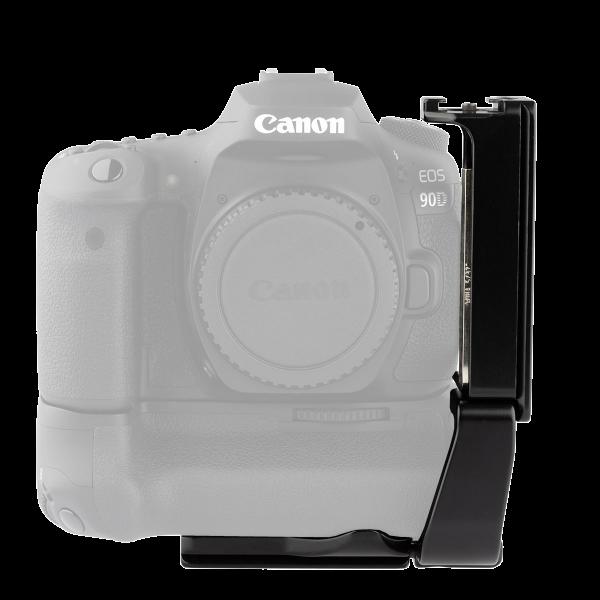 ProMediaGear PLCBGE14T L-Winkel für die Canon EOS 90D, 80D, 70D mit Batteriegriff BG-E14