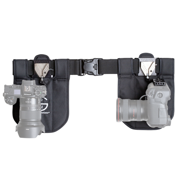 ProMediaGear SH2BK Kamera Holster für DSLR und Systemkamera - Dual