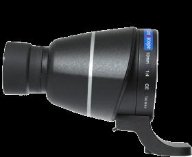 Lens2scope Okularvorsatz 10 mm für Canon EOS, schwarz, Geradeeinblick