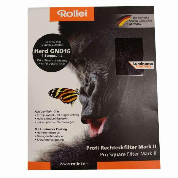 Rollei Profi Rechteckfilter Mark II - Harter Grauverlaufsfilter 100 mm GND16