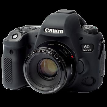 EasyCover Silikonschutzhülle für Canon 6D Mark II - Schwarz