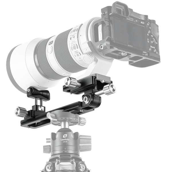 Leofoto VR-150 Dual-Pivot Teleschiene mit Schnellwechselklemme (171 mm lang)