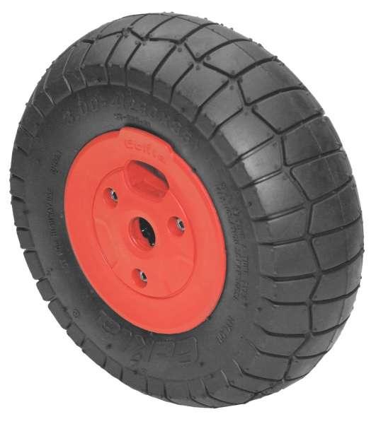 Eckla 07140 Ersatzrad 260 mm (pannensicher & rollengelagert) -ROT