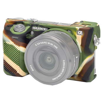 EasyCover Silikonschutzhülle für Sony A6300 - Camouflage