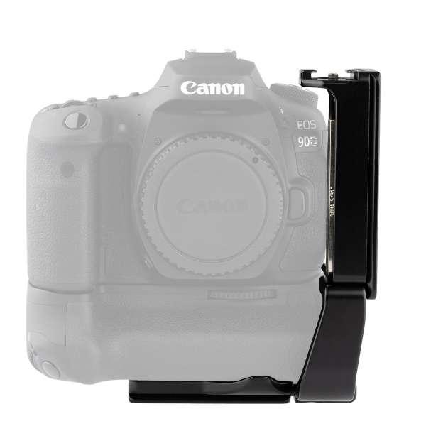 ProMediaGear PLCBGE14 L-Winkel für die Canon EOS 90D, 80D, 70D mit Batteriegriff BG-E14