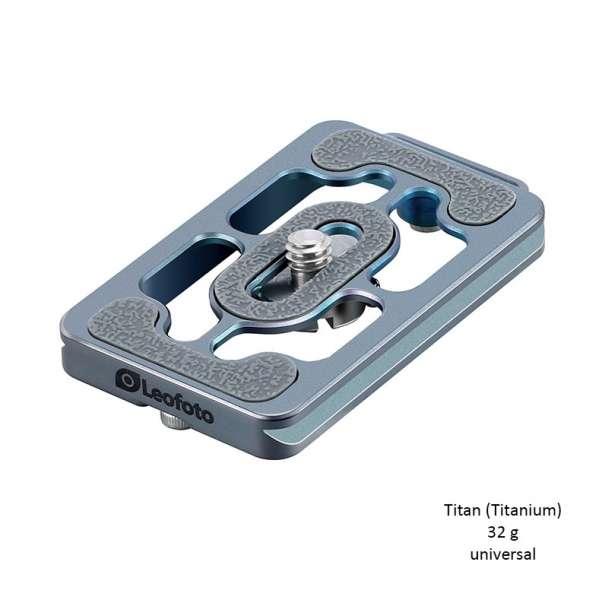 Leofoto NP-65T Universal-Schnellwechsel-Kameraplatte aus Titan (Blau)