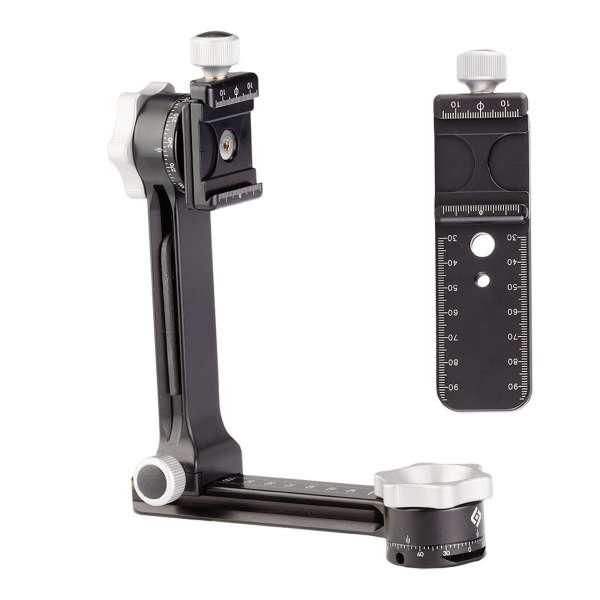 Really Right Stuff: PG-01 Pro Kompakter Panoramakopf und Teleneiger mit Rändelklemme + MPR-CL