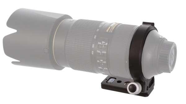 Kirk NC-80-400GV2 Objektivschelle mit QD-Aufnahme
