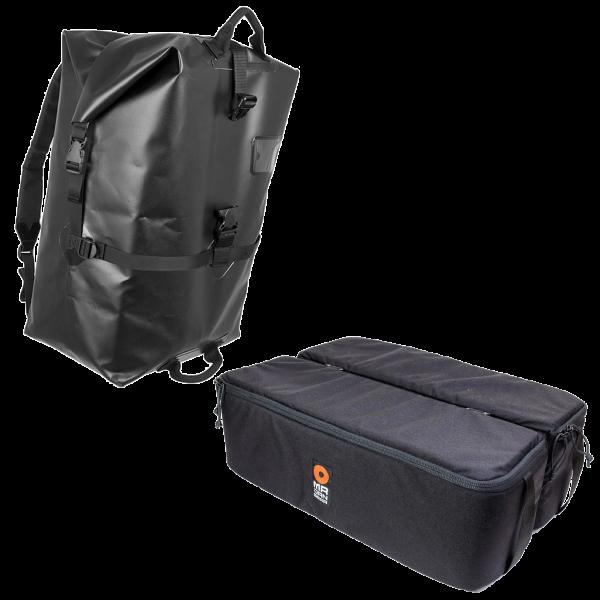 MR JAN GEAR Ponting Ronconi - Wasserdichter Fotorucksack mit gepolsterten Fototaschen-Einsätzen