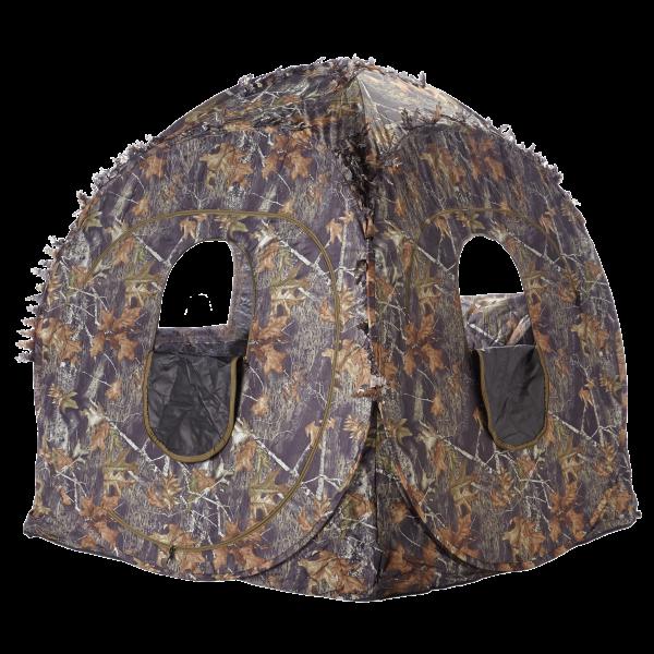 Set Stealth Gear 2- Personen Tarnzelt Extreme Nature + Walkstool Comfort Hocker XL