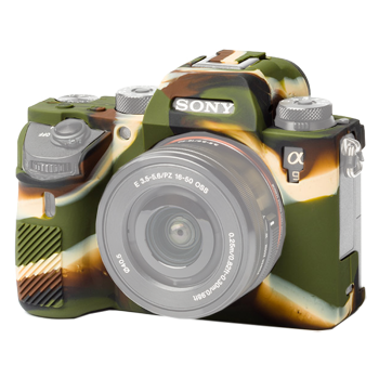 EasyCover Silikonschutzhülle für Sony A 9 / A7R III camouflage