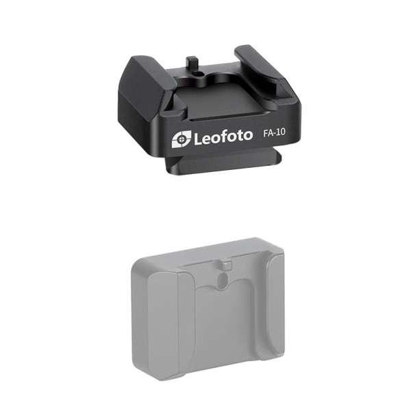 Leofoto FA-10 V-Schnellwechselplatte mit Cold Shoe-Aufnahme