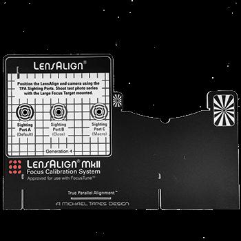 LensAlign Upgrade auf 4. Generation - Skale und Zieltafel für LensAlign Mk II
