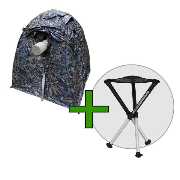 Angebot Set 1: TRAGOPAN V6 Tarnzelt+Walkstool Comfort Hocker