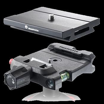 Manfrotto MSQ6 Schnellwechselkupplung mit 38 mm Schwalbenschwanz-kompatibler Platte