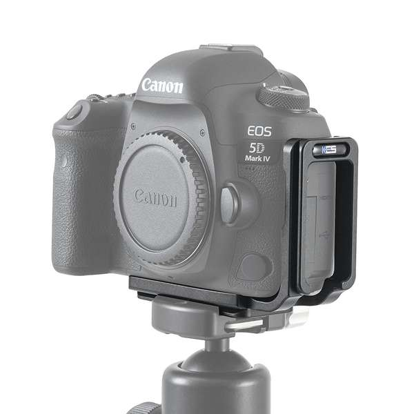 Kirk BL-5D4 Kamera-L-Winkel mit QD-Aufnahme für Canon EOS 5D Mark IV