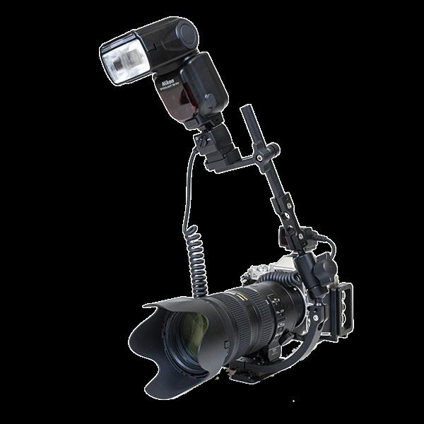 Kirk FB-CL Makroblitzarm zuir Anbringung an einer 38 mm Objektivplatte mit oberseitigem Klemmprofil