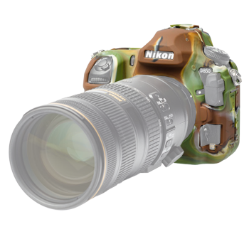 EasyCover Silikonschutzhülle für Nikon D850 - Camouflage