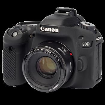 EasyCover Silikonschutzhülle für Canon 80D - Schwarz