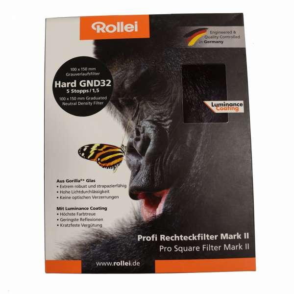 Rollei Profi Rechteckfilter Mark II - Harter Grauverlaufsfilter 100 mm GND32
